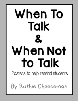 When to talk and When Not to Talk Examples Whole Brain Teaching Posters