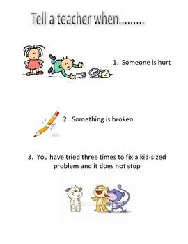 When to tell a teacher...