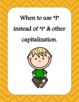 """When to use """" I """" instead of """" i """" & other capitalization."""