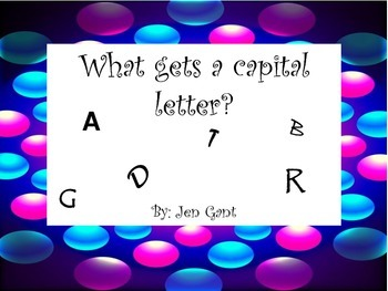 When to use a capital letter posters