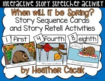 When will it be Spring? Story Sequence and Retelling Cards (Math and Literacy)