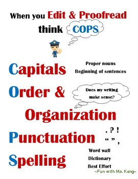 When you Edit & Proofread think COPS!