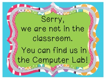 Back to School - 'When we are not in the classroom - You can find us...' POSTERS