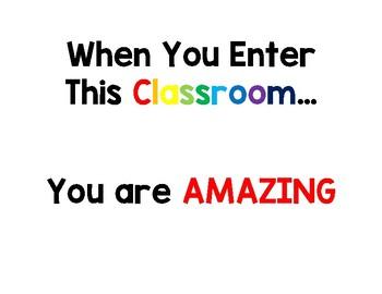 When you enter...