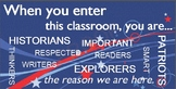 When you enter this classroom...