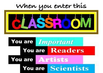 When you enter this classroom... poster