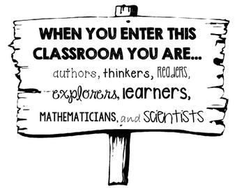 When you enter this classroom sign