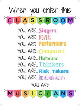 When you enter this classroom you are... Musicians - White Background