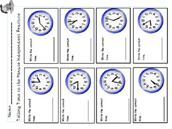 """When's Recess? A """"Great First Teaching"""" Lesson for Time to the Minute"""