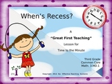 """When's Recess? A """"Great First Teaching"""" Lesson for Time to"""