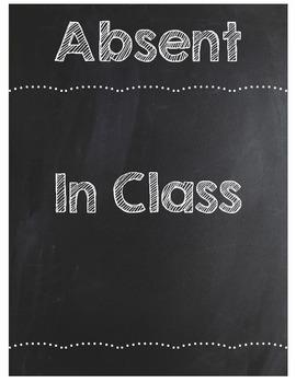 Where Am I Clip Chart - Chalkboard Theme