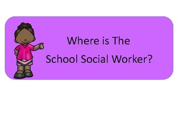 Where Am I Clip Chart for school counselor, social worker and psychologist