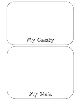 Where Am I? Printable Booklet / Foldable for Social Studies