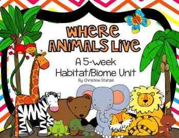 Where Animals Live: A 5-Week Habitat/Biome Unit (BUNDLED)