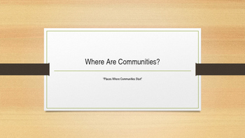 Where Are Communities, Chapter 2