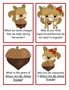 Where Are My Animal Friends? Comprehension Cards