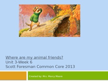 """Where Are My Animal Friends?"" (Instructional Guide for Reading Street 2013)"