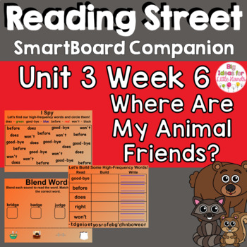 Where Are My Animal Friends? SmartBoard Companion 1st First Grade