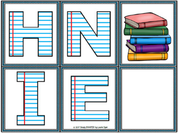 Where Are My Library Books?:  Low Prep Letter Identification Activity