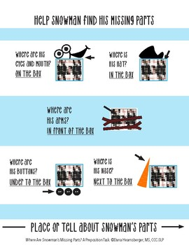 Where Are Snowman's Missing Parts?  A Preposition Task