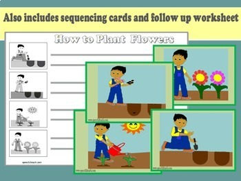 Where Are The Flowers Rony? Spring Make and Take Book and Sequencing Activity