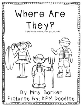 Where Are They? {An Emergent Reader}