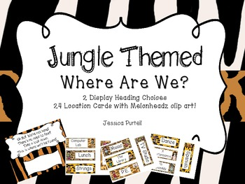 Jungle Themed-Where Are We? Poster Set