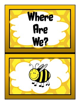 Where Are We? Bee Theme Cards