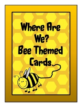 """Bee Theme """"Where Are We?"""" Cards"""