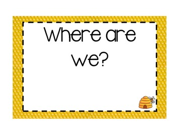 Where Are We? Bee Themed Sign