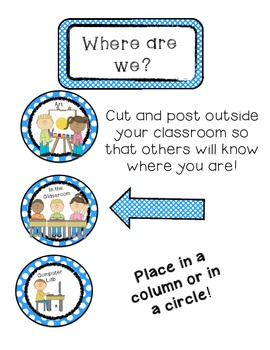 Where Are We Board- Blue Polka Dot Edition (Signs/Posters)