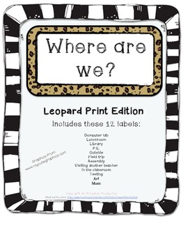 Where Are We Board- Jungle or Leopard Print Edition (Signs/Posters)