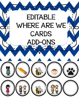 Where Are We Cards Editable