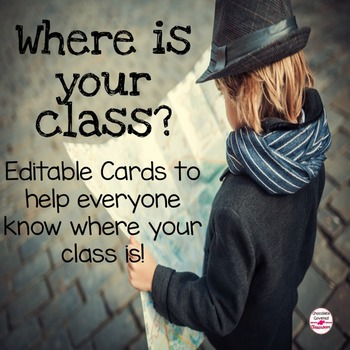 Where Are We Cards - Editable