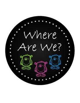Where Are We Chalkboard Clipchart