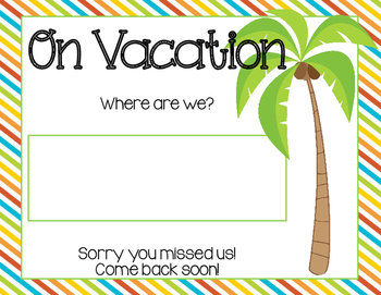 Where Are We? Chart (Beach/Surf Themed)