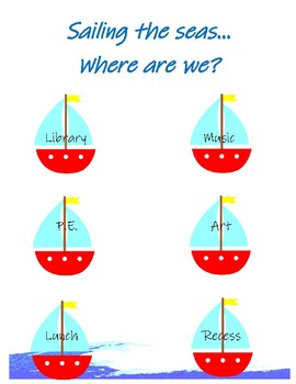 Where Are We? Chart (Nautical)