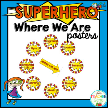 Super Hero Where Are We Chart Signs