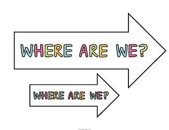 Where Are We Chart Signs (Chevron)