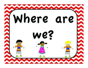 Where Are We? Chevron Theme