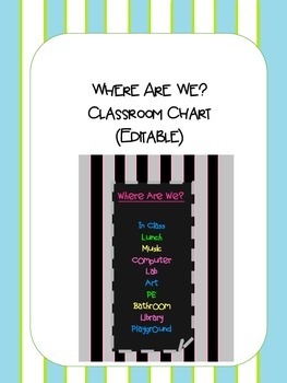 Where Are We? Classroom Chart