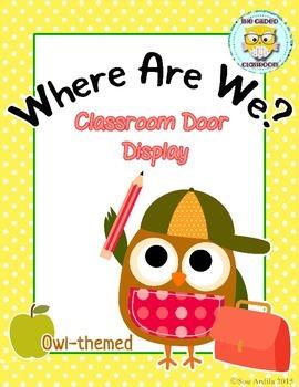 Where Are We? Classroom Door Display