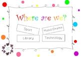 Where Are We? - Classroom Door Display