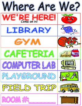 Where Are We?  Classroom Door Sign