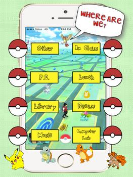 Where Are We - Classroom Door Sign - Pokemon Go Themed
