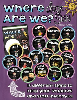 Where Are We? Classroom Door Sign Poster