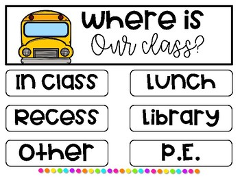 Where Are We? Classroom Door Sign Posters