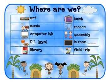 Where Are We? Classroom Location Chart
