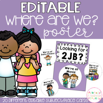 Where Are We Classroom Posters Editable