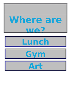 Where Are We Classroom Sign